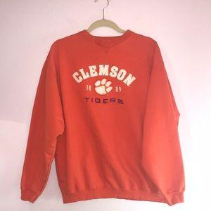 Tops - ⭐️Clemson Tigers Orange Vintage Crewneck